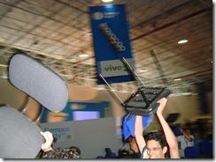 Cadeiras ao ar durante palestra